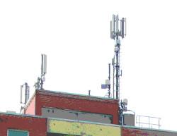 foto: antenne in einem wohnviertel