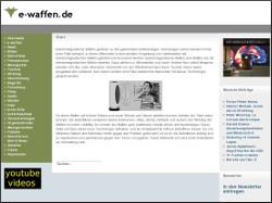 screenshot: webseite e-waffen.de
