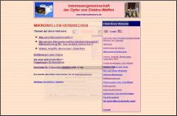 screenshot: webseite gegen mikrowellenterror